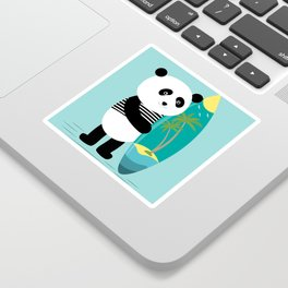 Surf along with the panda. Sticker