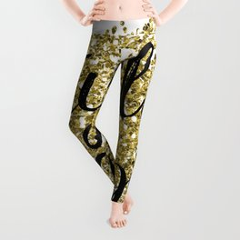 Party like Gatsby - golden jazz Leggings