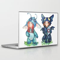 toothless Laptop & iPad Skins featuring toothless by cynamon