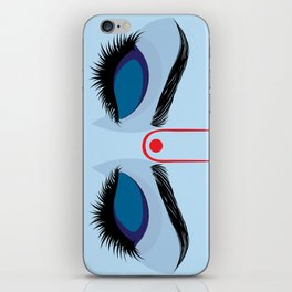 Indian god krishna eyes on blue skin iPhone Skin
