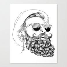 beard & sunglasses Canvas Print