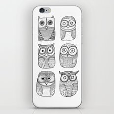 Six Pack (owl collective) iPhone & iPod Skin