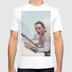 Rey (jakku scavenger) White LARGE Mens Fitted Tee