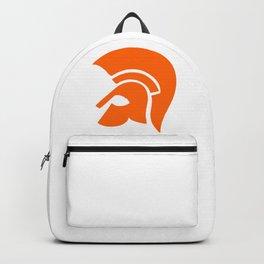 Ancient Spartan Soldier Helmet Red Orange Backpack