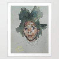 basquiat Art Prints featuring Basquiat by Danielle Lima