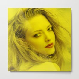 Amanda Seyfried - Celebrity (Florescent Color Technique) Metal Print