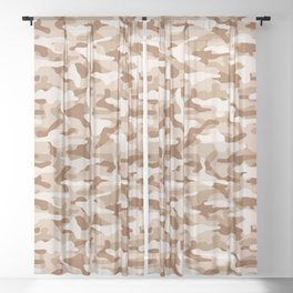 Desert Camouflage Sheer Curtain