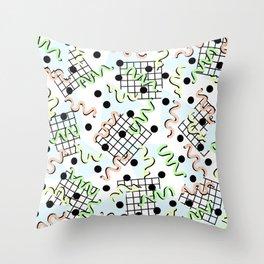 Retro Memphis 80's Disco Confetti Design Pattern Throw Pillow