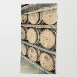 Kentucky Bourbon Barrels Color Photo Beach Towel