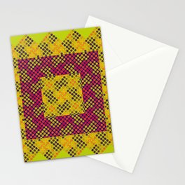 Dot Swatch Equivocated on Chartreuse Stationery Cards