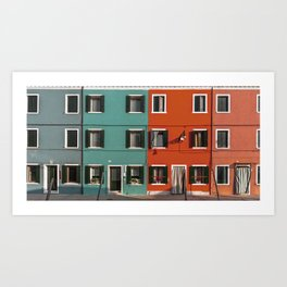 Burano colorful houses // lifestyle and traveling photography Art Print