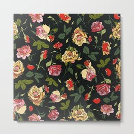 English Rose Garden Metal Print
