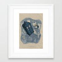 hallion Framed Art Prints featuring Falling by Karen Hallion Illustrations