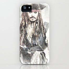 Cpt. Jack Sparrow 2 iPhone Case