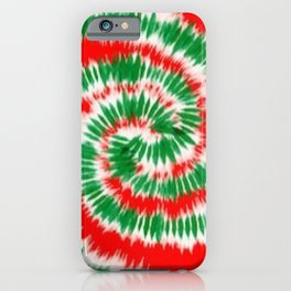 Red and green tie dye  iPhone Case