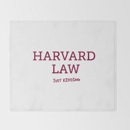 Harvard Law Throw Blanket
