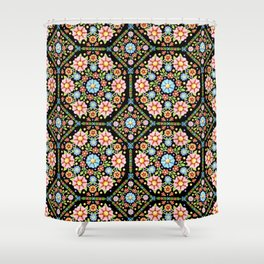 Millefiori Floral Shower Curtain