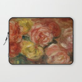 """Auguste Renoir """"Nature Morte Aux Roses (Still life with roses)"""" Laptop Sleeve"""