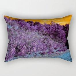 Not home planet alien landscape indigo purple orange surreallist Rectangular Pillow