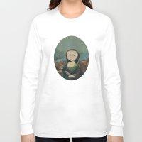 mona lisa Long Sleeve T-shirts featuring Mona Lisa by Chris Talbot-Heindl