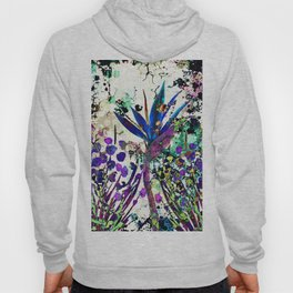 abstract background with flowers Hoody