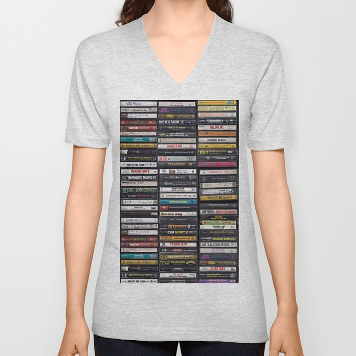 Old 80's & 90's Hip Hop Tapes Unisex V-Neck