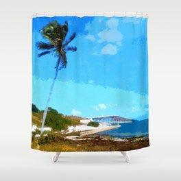 Bahia Honda Overlook Shower Curtain
