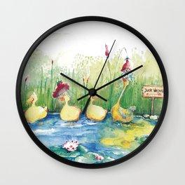 DUCK WASHER Wall Clock