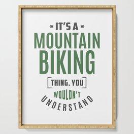 Mountain Biking Thing Serving Tray