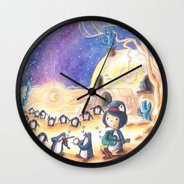 PenguinGirl and her Music Maker Penguins Bring Love, Laughter and Light in the Desert Wall Clock