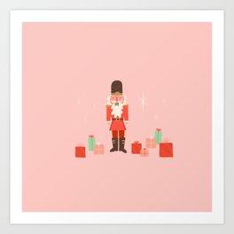 nutcracker - pink Art Print