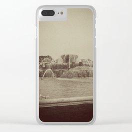 Chicago Buckingham Fountain Sepia Photo Clear iPhone Case
