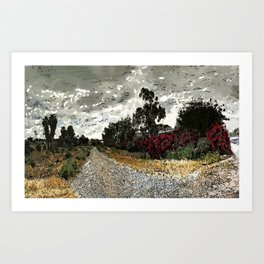 Old Railroad Bed, Brea Art Print
