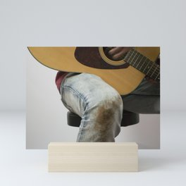 Guitar Player Portrait Mini Art Print
