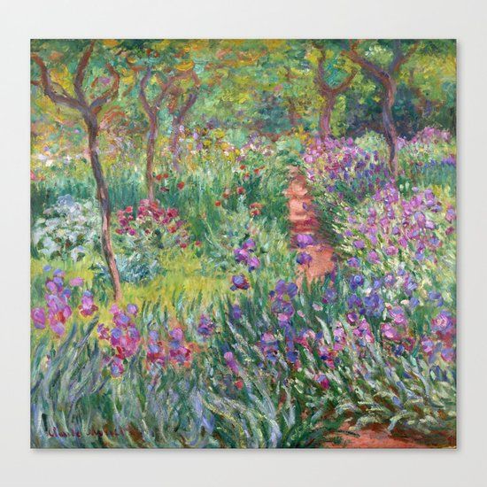 The Iris Garden at Giverny by Claude Monet Canvas Print