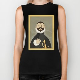 Nobleman with his Hand on his Chest by Greco Biker Tank