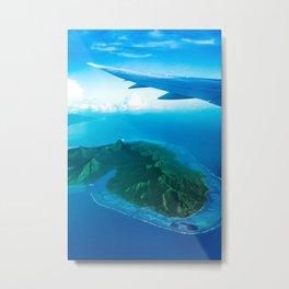 Travel vacation flying over bora bora Metal Print