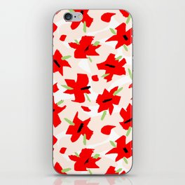 Scarlet Floral iPhone Skin