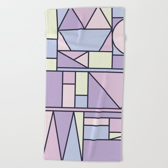 Kaku Pastel Beach Towel