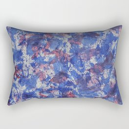 Blue and Red Watercolor on White Background Rectangular Pillow