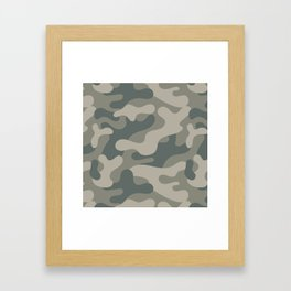 Gray Urban Camouflage Pattern Framed Art Print