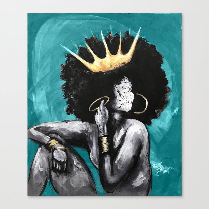 Naturally Queen VI  TEAL Leinwanddruck