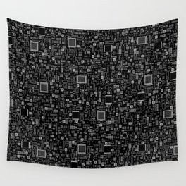 All Tech Line INVERTED / Highly detailed computer circuit board pattern Wall Tapestry