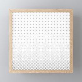 Happy Diamond Star Fade Away Framed Mini Art Print