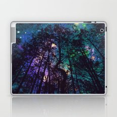 Black Trees Colorful Teal Space Laptop & iPad Skin