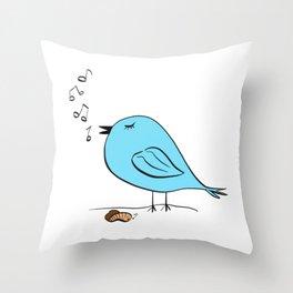 Early Bird Song Throw Pillow