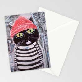 Mittens Ponders the Fibonacci Sequence Stationery Cards