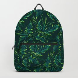 Fern leaves - green Backpack