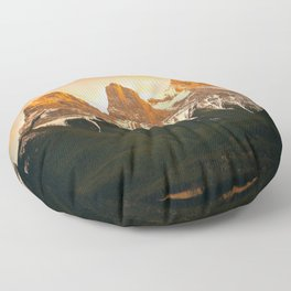 Three Sisters - Golden Peaks Floor Pillow