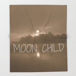 Moon Child Reflections | Photography Throw Blanket